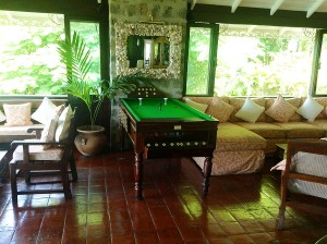 Firefly Bar Billiard Table on Mustique