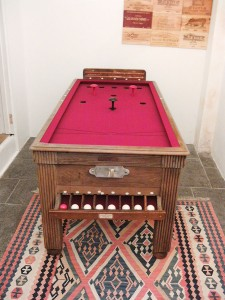 French Bar Billiard Table after restoration