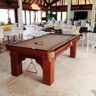 Custom Pool Table – New Table on Moskito Island