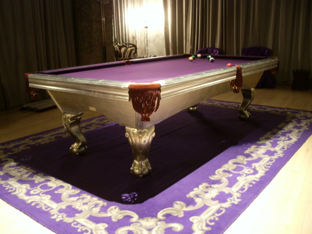 Sanderson Silverleafed Pool Table