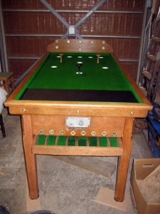 Oak Riley Green Cloth Bar Billiard Table