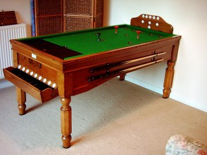 Light Oak Jelks Bar Billiard Table
