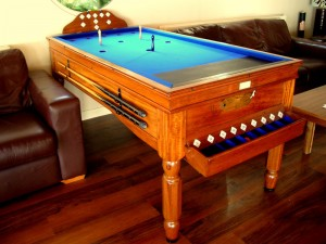 Light mahogany Jelks Bar Billiard Table