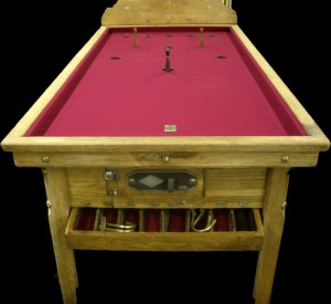 Light Oak Burgundy Riley Bar Billiard Table