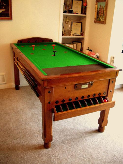 bar billiard tables antique bespoke custom bar billiards. Black Bedroom Furniture Sets. Home Design Ideas