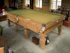 Elizabethan Thurston Oak Snooker Table