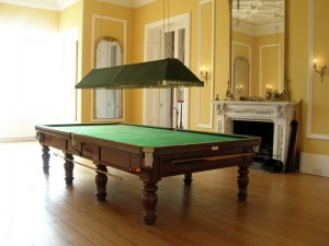 FULL SIZE SNOOKER TABLE – George Wright Tulip Leg Billiard Table