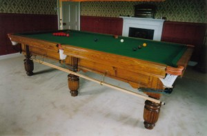 Reeded Oak Snooker Table