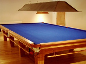 Light Oak Snooker Table