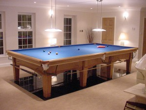 Contemporary Oak Full Size Snooker Table