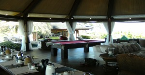 New Snooker Table installed in 2013 in the Temple at Sir Richard Branson's Necker Island