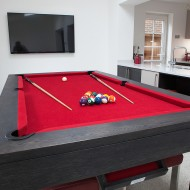Custom Pool Table – Contemporary Square Leg Pool Diner