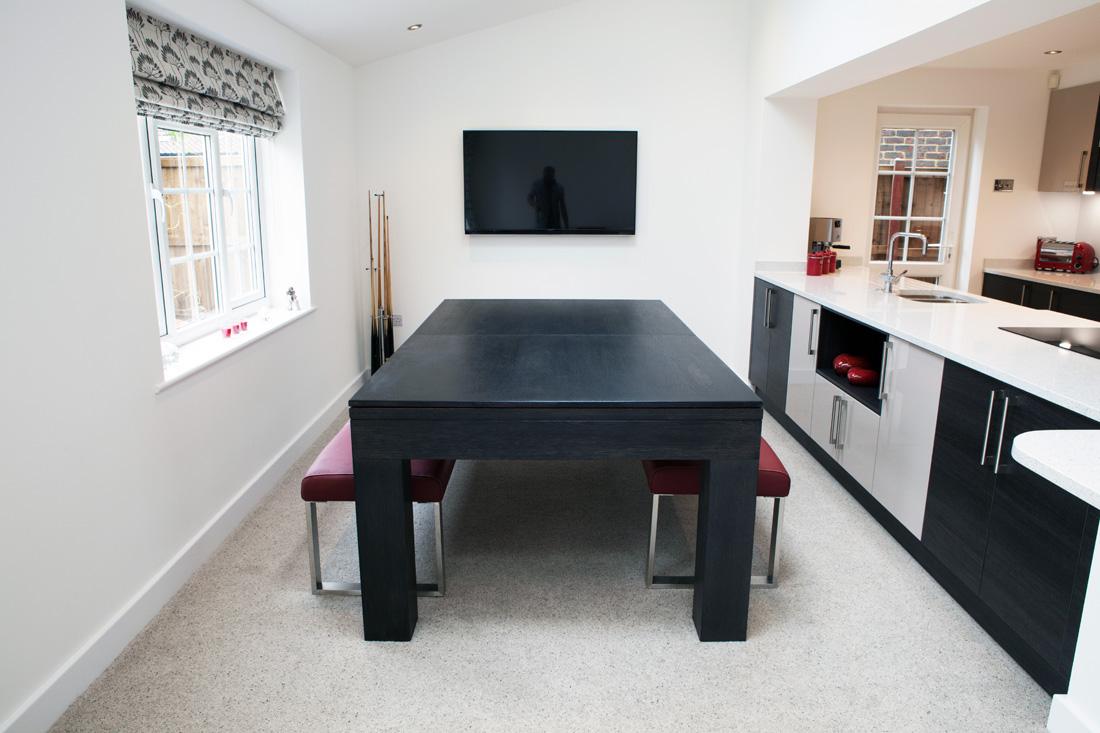 Custom Pool Table U2013 Contemporary Square Leg Pool Diner