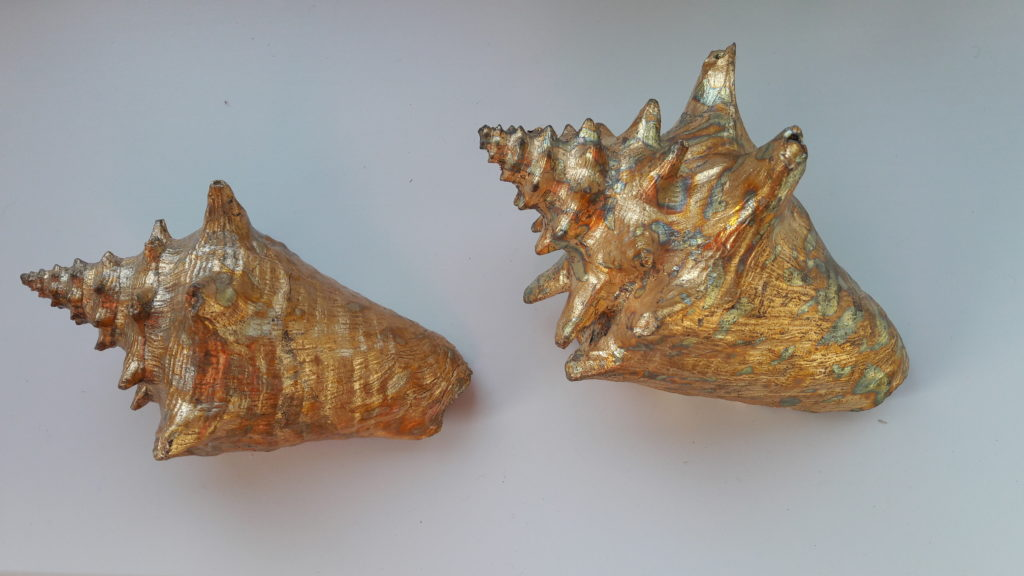 Gold Leaf Conch Shells