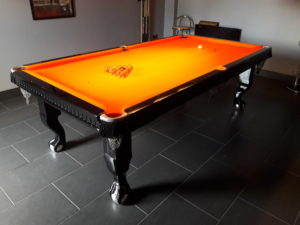 Ball and Claw Ebony Pool Table