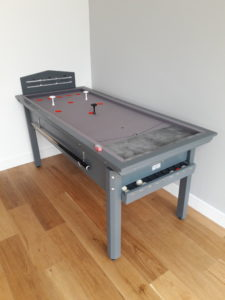 Riley Downpipe Grey Silver Cloth Bar Billiard Table