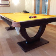 Omega Custom Pool Table with Gold Cloth
