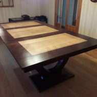 Omega Custom Pool Table Diner with Gold Cloth