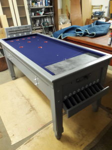 Medium Grey French Blue Bar Billiard Table