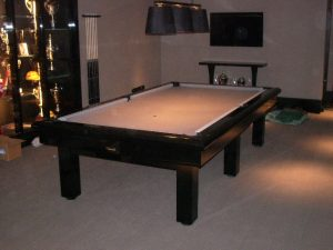 Cheviotte Custom Pool Table with a brown / cream cloth