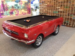 Ford Mustang Custom Pool Table with a black cloth