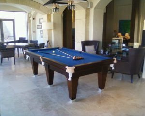 Blue Contemporary Pool Table