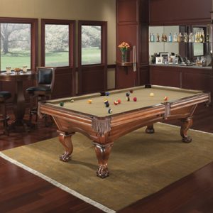 Glenwood Custom Pool Table with a Taupe Cloth