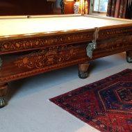 Antique Billiard Table Renovation – Charles X 1840 restoration