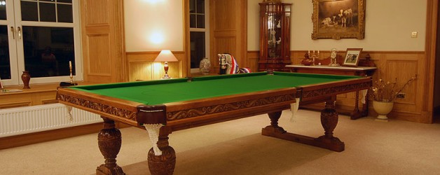 Balmoral Snooker Dining Table ready for play