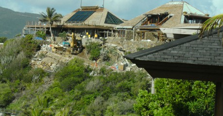 Great House at Necker Island during rebuild